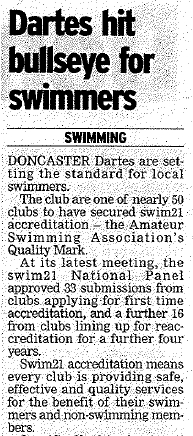 Swimming news from 2008 andy meets bill furniss coach to rebecca adlington for Rossington swimming pool timetable